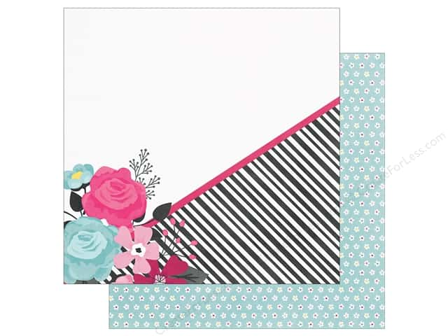 """Simple Stories Collection Love & Adore Paper 12""""x 12"""" Head Over Heels (25 pieces)"""