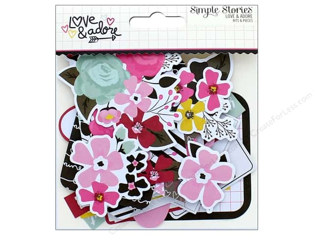 Simple Stories Collection Love & Adore Bits & Pieces
