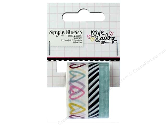 Simple Stories Collection Love & Adore Washi Tape