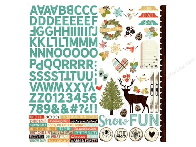 Simple Stories Collection Winter Wonderland Sticker Combo 12 in. x 12 in. (12 pieces)