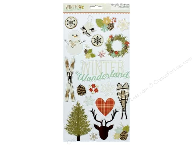 "Simple Stories Collection Winter Wonderland Chipboard 6""x 12"""