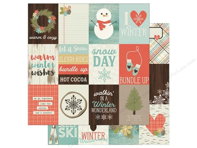 "Simple Stories Collection Winter Wonderland Paper 12""x 12"" Journaling Card Elements 3""x 4"" (25 pieces)"