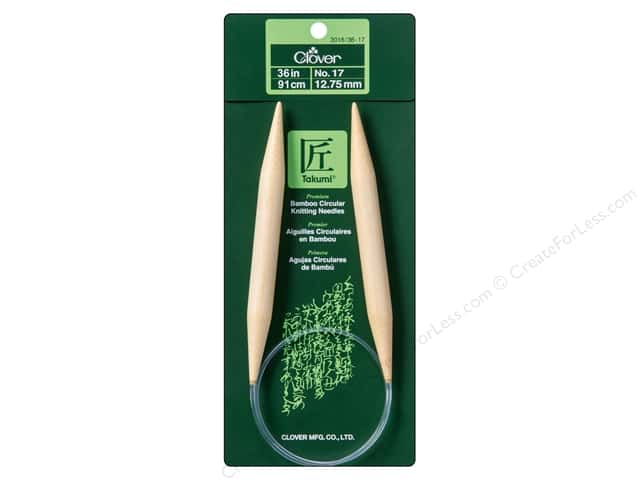 Clover Bamboo Circular Knitting Needles 36 in. Size 17 (12.75 mm)