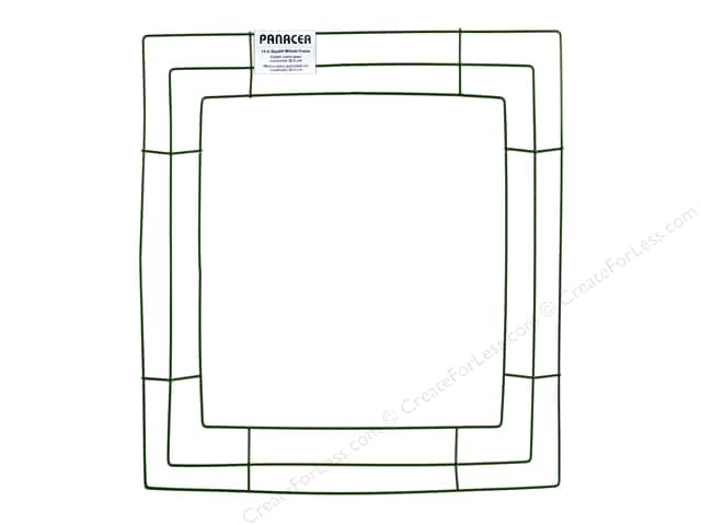 Panacea Box Wreath Frame 14 in. Square Green