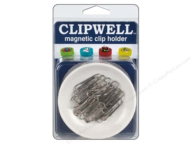 Blue Feather Clipwell Magnetic Clip Holder White