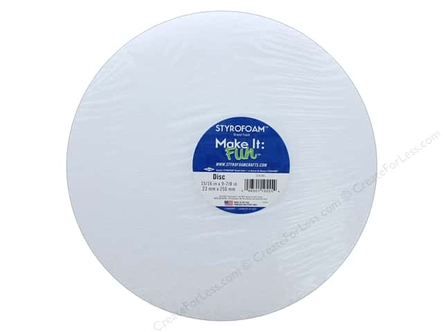 FloraCraft Styrofoam Disc 1 x 10 in. White 1 pc.