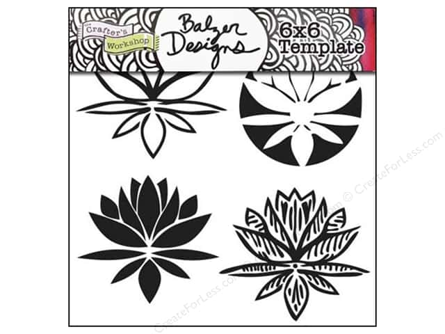 The Crafter's Workshop Template 6 x 6 in. Lotus Blossom