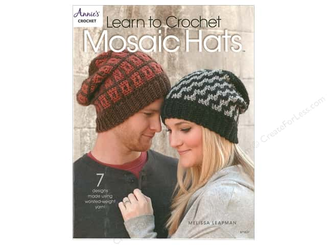 Annie's Learn To Crochet Mosaic Hats Book