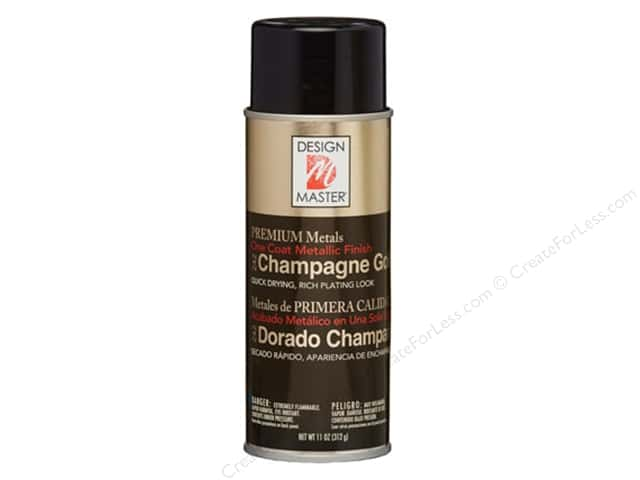 Design Master Premium Metals Spray Paint 11 oz. #242 Champagne Gold
