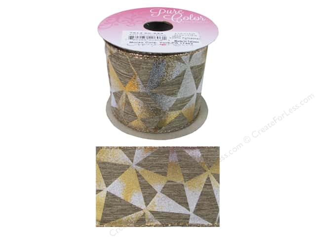 "Morex Ribbon Ornamental 2.5""x 3yd Gold"