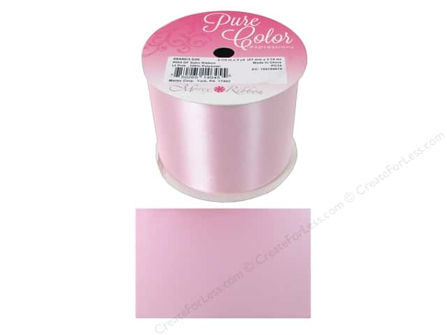 Morex Double Face Satin Ribbon 2 1/4 in. x 3 yd. Light Pink