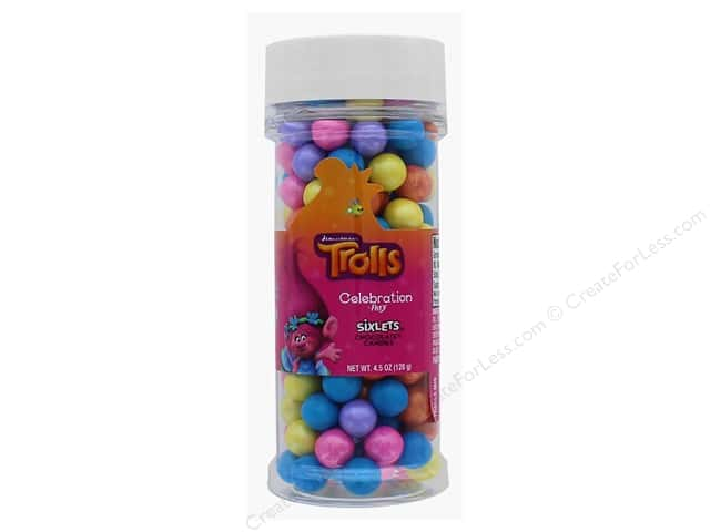 SweetWorks Celebration Sixlets 4.5 oz. Troll Mix