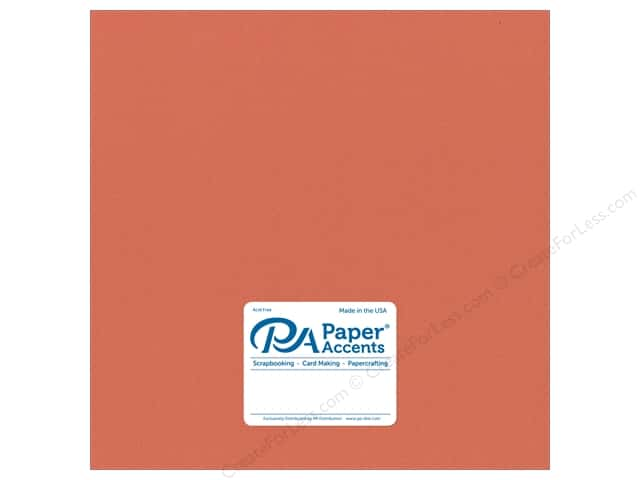 Paper Accents Cardstock 12 x 12 in. #18011 Smooth Sun Coral (25 sheets)