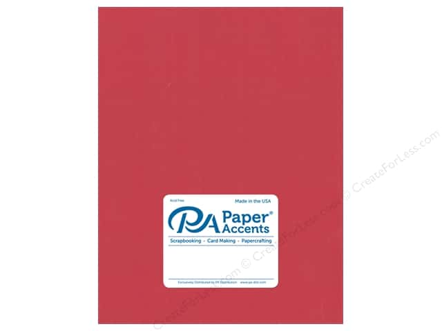 Paper Accents Cardstock 8 1/2 x 11 in. #18002 Smooth Grenadine (25 sheets)