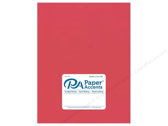 Paper Accents Cardstock 8 1/2 x 11 in. #18008 Smooth Strawberry (25 sheets)