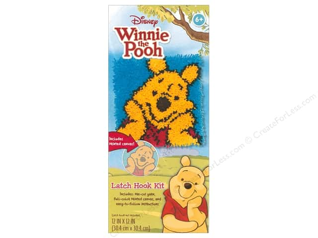 Dimensions Latch Hook Kit Disney Pooh