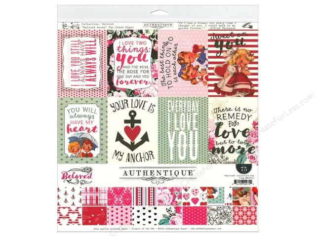 """Authentique Collection Beloved Collection Kit 12""""x 12"""""""