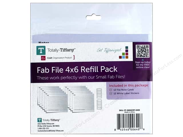 "Totally Tiffany Organizers Fab File Refill Notecard Small 4""x 6"""
