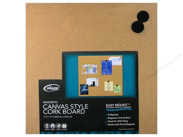 The Board Dudes Magnetic Cork Boards 17 x 17 in. Unframed