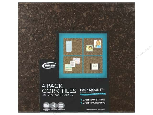 The Board Dudes Cork Tile 3/8 x 12 x 12 in. Dark 4pc