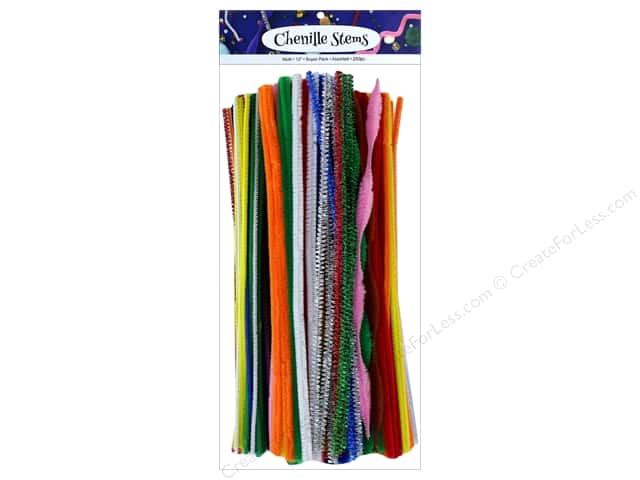 PA Essentials Chenille Stems Variety Pack 250 pc. Assorted Multi