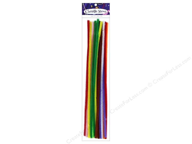 PA Essentials Chenille Stems 6 mm x 12 in. Multi 25 pc.