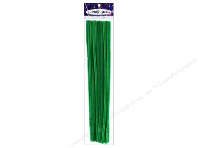 PA Essentials Chenille Stems 6 mm x 12 in. Green 25 pc.