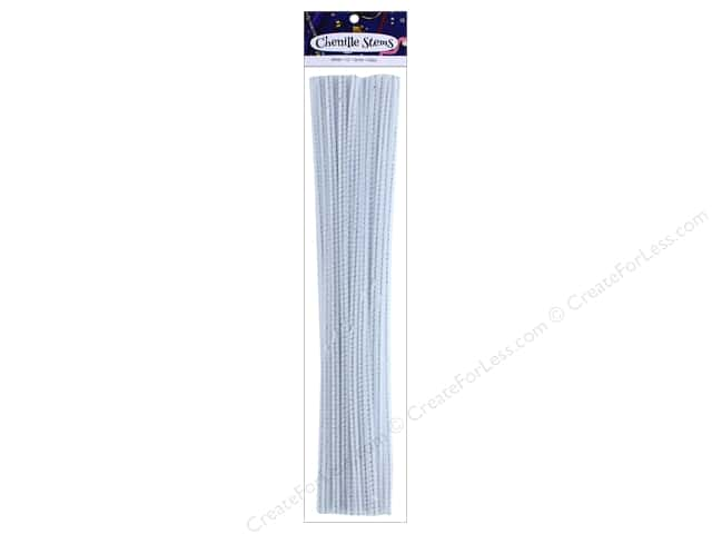 PA Essentials Chenille Stems 6 mm x 12 in. White 25 pc.