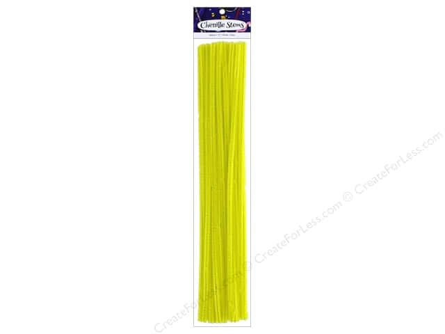 Chenille Stems by Accents Design 6 mm x 12 in. Yellow 25 pc.