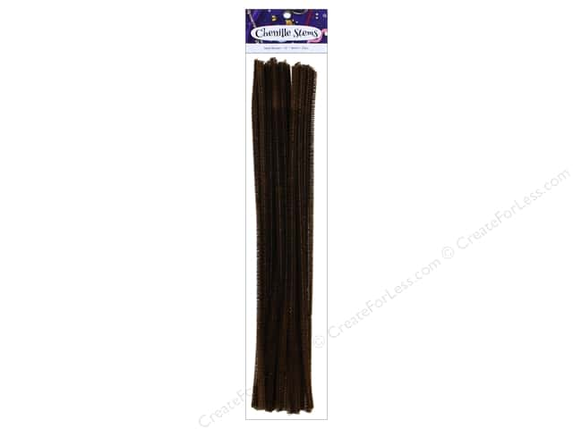 Chenille Stems by Accents Design 6 mm x 12 in. Dark Brown 25 pc.