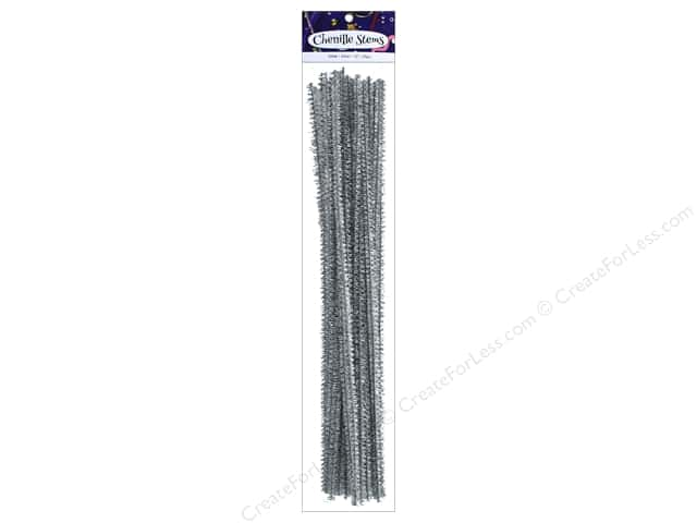 PA Essentials Glitter Stems 12 in. x 6 mm 25 pc. Silver