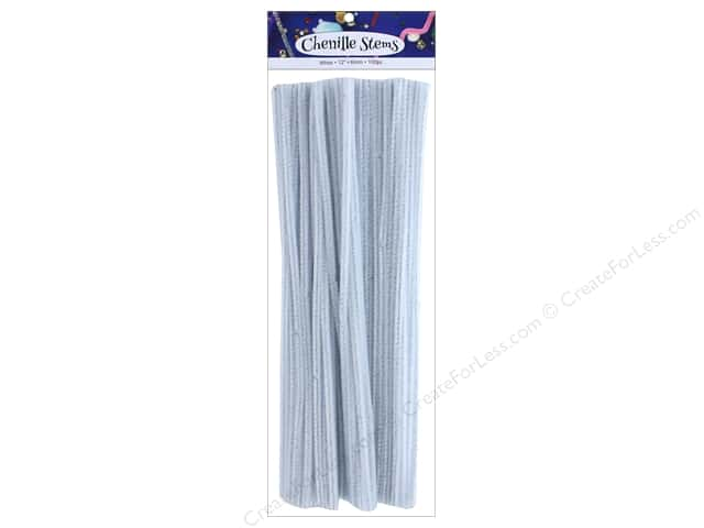 Chenille Stems by Accents Design 6 mm x 12 in. White 100 pc.