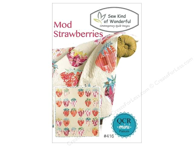 Sew Kind Of Wonderful QCR Mini Mod Strawberries Pattern
