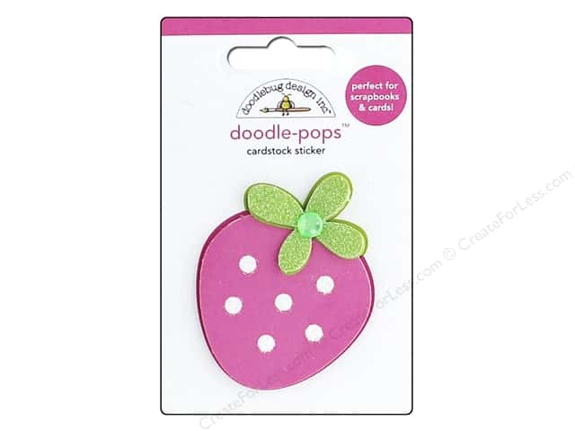 Doodlebug Stickers Doodle Pops Sweet Cakes Berry Sweet