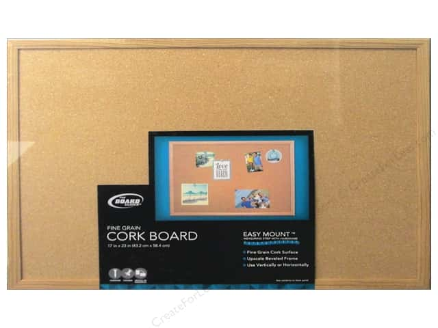 The Board Dudes Cork Bulletin Boards 17 x 23 in. Wood Frame