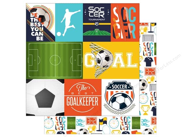 "Echo Park Collection Soccer Paper 12""x 12"" Journal Card (15 pieces)"