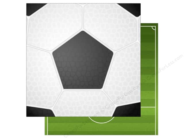 """Echo Park Collection Soccer Paper 12""""x 12"""" Soccer Ball (15 pieces)"""