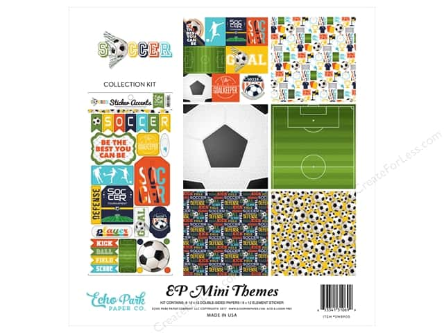 """Echo Park Collection Soccer Collection Kit 12""""x 12"""""""