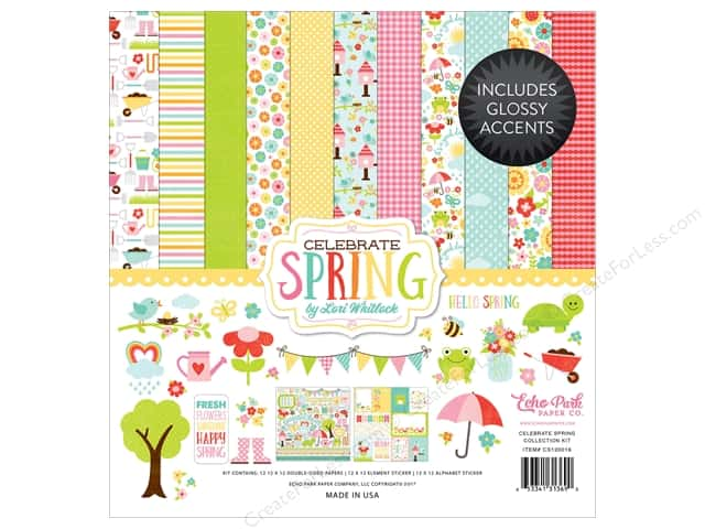 """Echo Park Collection Celebrate Spring Collection Kit 12""""x 12"""""""