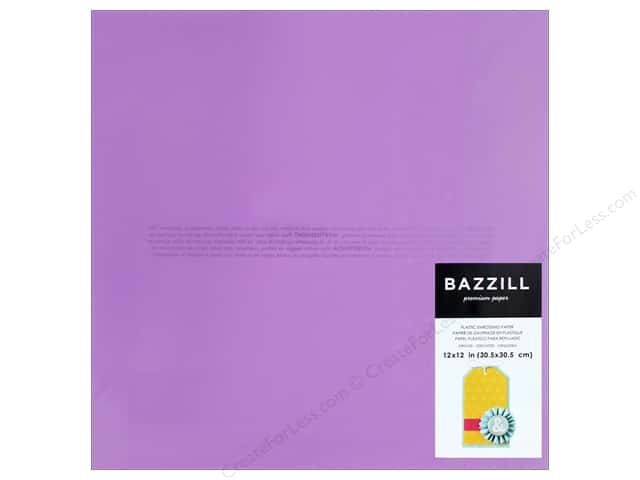 "Bazzill Plastic Embossing Sheet 12""x 12"" Orchid (15 pieces)"