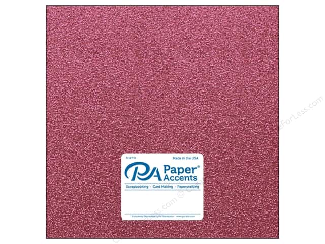 Paper Accents Glitter Cardstock 12 x 12 in. #G01 Pink (15 pieces)
