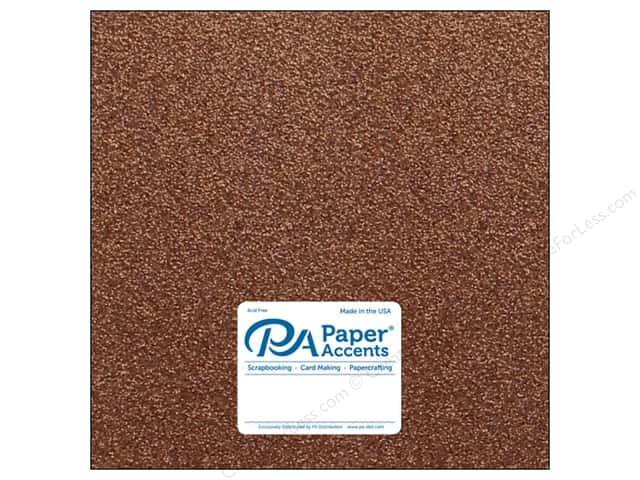 Paper Accents Glitter Cardstock 12 x 12 in. #G60 Bronze Copper (15 pieces)