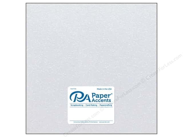 Paper Accents Glitter Cardstock 12 x 12 in. #G13 White (15 pieces)