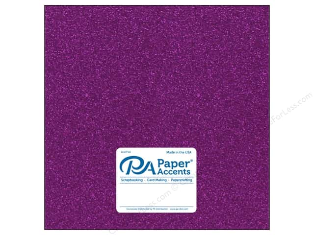 Paper Accents Glitter Cardstock 12 x 12 in. #G26 Purple (15 pieces)