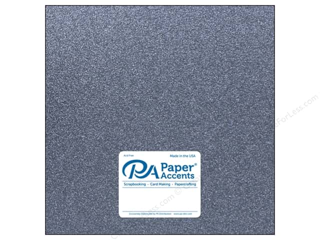 Paper Accents Glitter Cardstock 12 x 12 in.  #G61 Onyx (15 pieces)