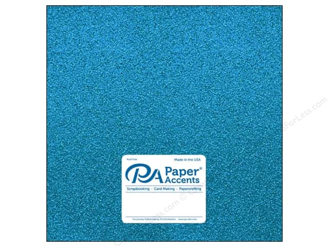 Paper Accents Glitter Cardstock 12 x 12 in. #G08 Ocean Blue (15 pieces)
