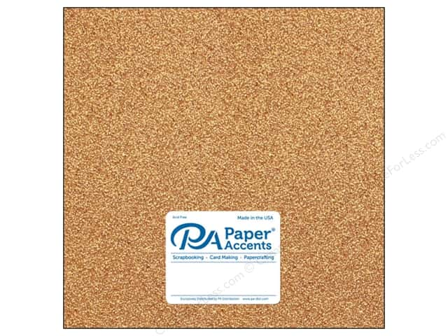 Paper Accents Glitter Cardstock 12 x 12 in. #G33 Champagne (15 pieces)
