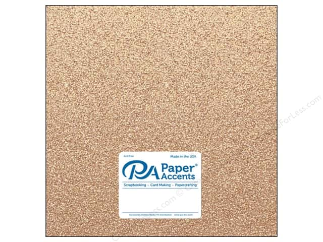 Paper Accents Glitter Cardstock 12 x 12 in. #G34 Sand (15 pieces)