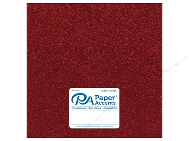Paper Accents Glitter Cardstock 12 x 12 in. #G04 Red (15 pieces)
