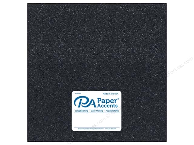 Paper Accents Glitter Cardstock 12 x 12 in. #G14 Black (15 pieces)